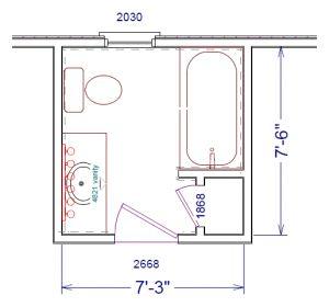 small bathroom floor plans 788 - Bathroom Remodel Layout