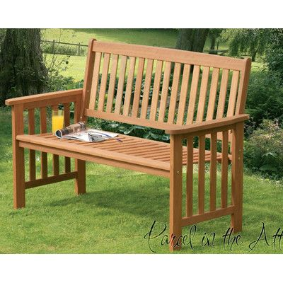 Camila 2 Seater Wood Bench