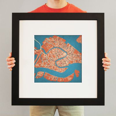 93 best world cities map prints images on pinterest city maps venice italy city prints map art gumiabroncs Image collections