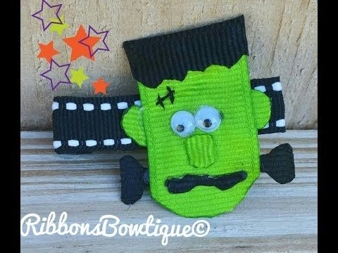 """HOW TO: Make a """"IT'S ALIVE Frankenstein"""" Hair-Clip - YouTube"""