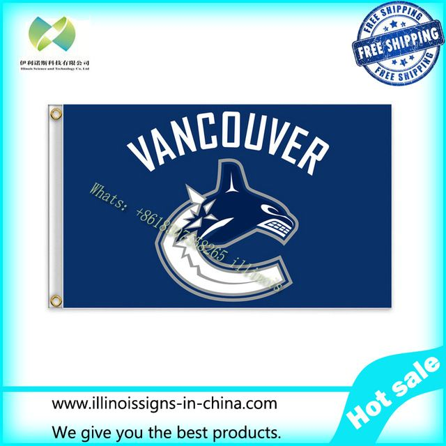 НХЛ Ванкувер Кэнакс Флаг 3x5 ФУТОВ 150 Х 90 СМ Баннер 100D Полиэстер флаг 1144, бесплатная доставка