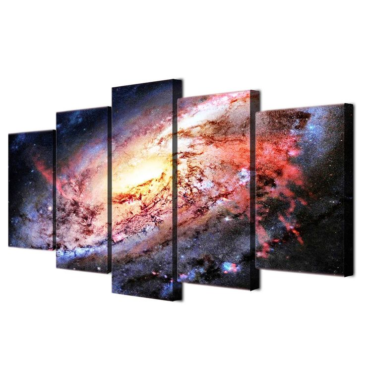 5 piece wall art canvas painting HD Print universe brilliant galaxy home decoration poster picture panel paintings/ff-6075 #Affiliate