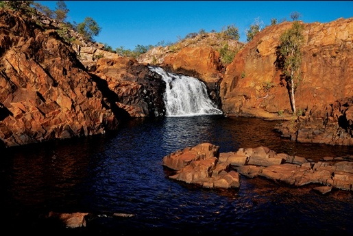 Edith Falls in NT, Australia. We did the big hike up and around Edith Falls when I was visiting the NT. I'd never experienced sights like it before! It was breathtaking! Half way through the hike we stopped off at this place for a refreshing swim. ~ Meg