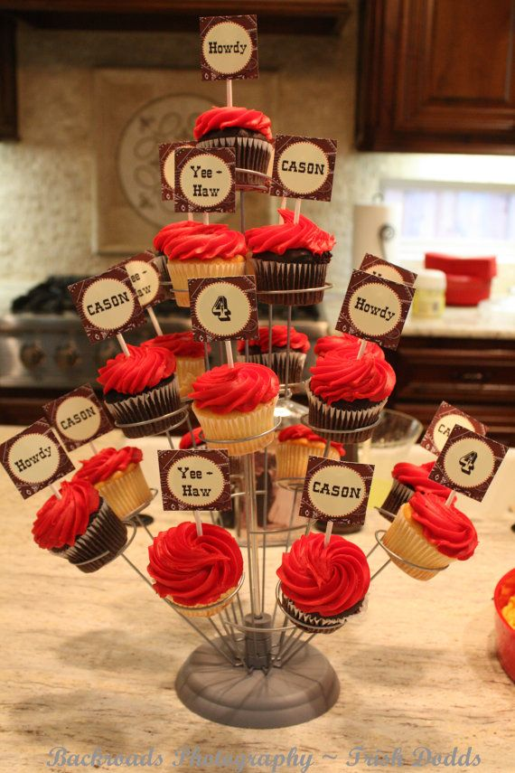Western theme cupcake / party toppers!  So cute Collection  by by BellaGreyDesigns, $16.00