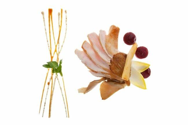Straffe Streek - Jong konijn met gesmolten witloof 'chiconnettes', oesterzwammen en honing