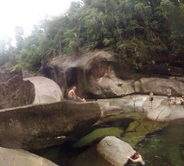 Babinda Boulders swimming hole near Cairns, Queensland, Australia. Photo: Osetralie