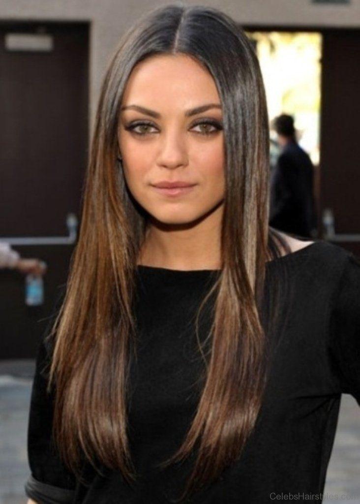 Mila Kunis Fabulous Long Hairstyle Straight Hairstyles Long Hair Styles Hair Styles