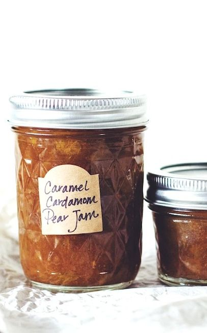 Caramel Cardamom Pear Jam | (made without artificial pectin) heartbeetkitchen.com