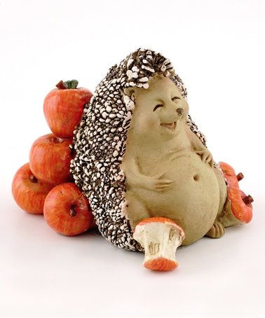 Look what I found on #zulily! Hedgehog Full from Eating Apples Figurine #zulilyfinds