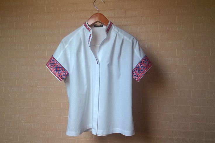 #white #shirt #embroideredshirt #UkrainianFolkEmbroidery #Vyshyvka_by_Nataliya_Matsyhin