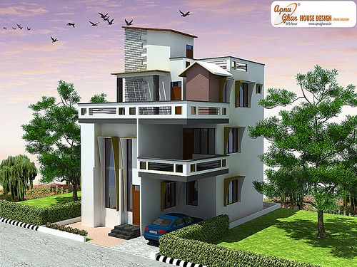 68 best images about triplex house design on pinterest for Triplex design plans
