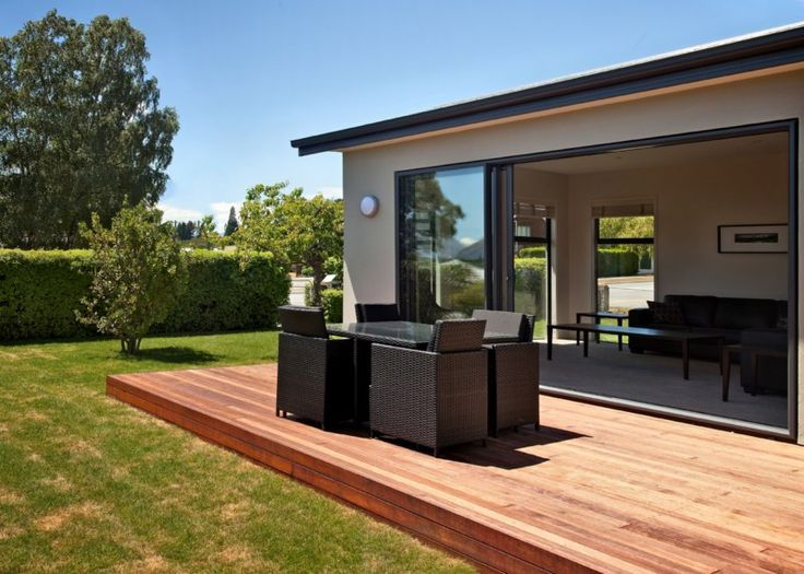 Dragonfly Cottage | Wanaka Holiday Houses - Imagine soaking up the sun and relaxing with a glass of wine on this beautiful terrace after a day of exploring the beautiful Wanaka.