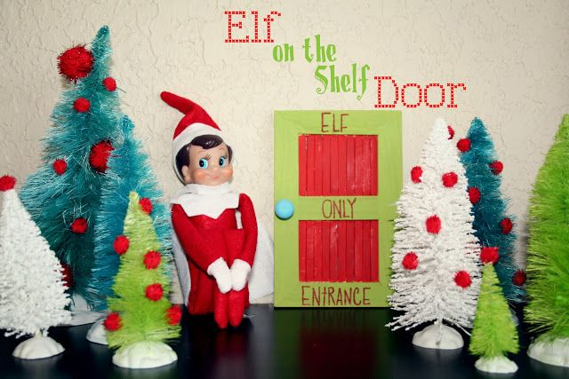 EASY DIY Elf on the shelf door gonna make a couple of these for around the house and outside