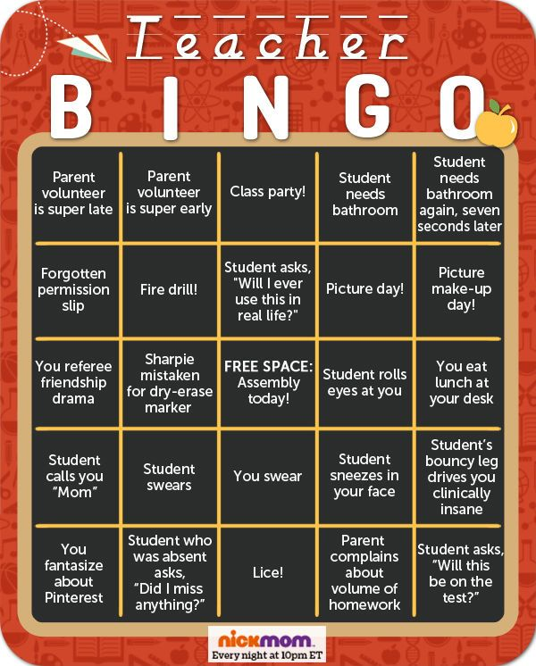 Classroom Game Ideas For High School ~ Let s play teacher bingo check out our funny game on