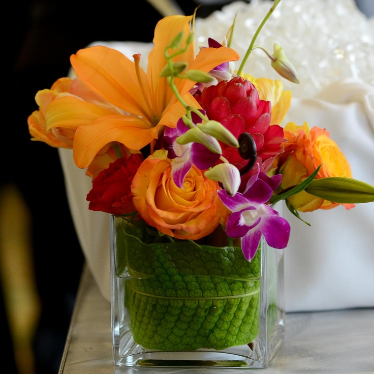 Best tropical centerpieces images on pinterest