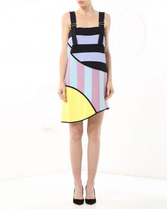 Asymmetrical panel mini dress Iceberg #Iceberg #colour #stripes #fashion #style #stylish #love #socialenvy #me #cute #photooftheday #beauty #beautiful #instagood #instafashion #pretty #girl #girls #styles #outfit #shopping