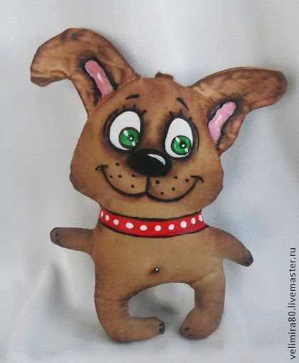 Дружок. - коричневый,игрушка,игрушка ручной работы,игрушка в подарок,кофейная игрушка