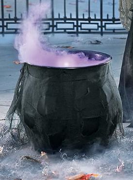 Enchant guests and trick-or-treaters alike with the spooky Foggy Halloween Cauldron; simply pour in water and plug in!