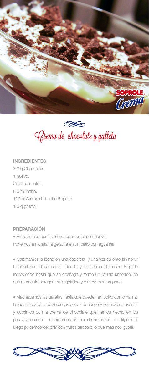 Crema de chocolate y galleta
