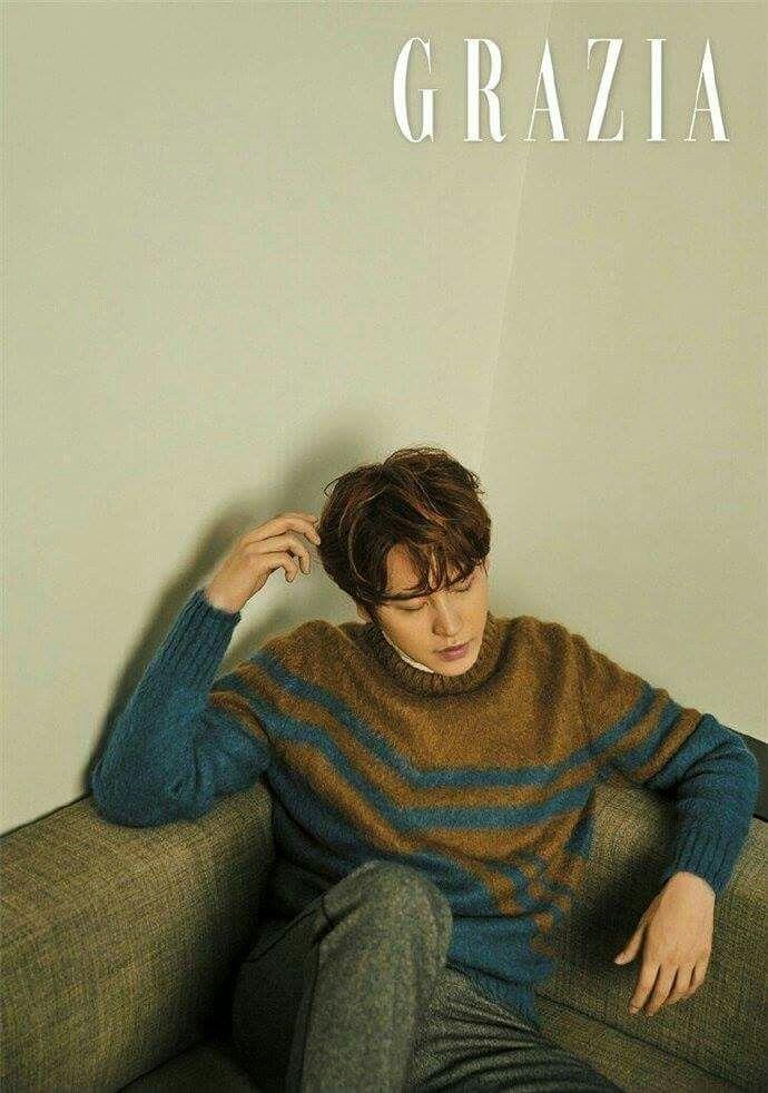 161121 Grazia Korea magazine December Issue with Kyuhyun