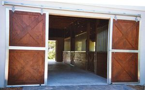 Horse Barn Doors. Crossbuck Not Split Sliding Barn Door Set.