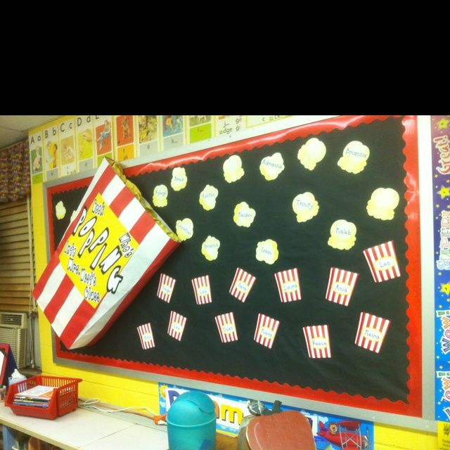 Classroom Notice Board Ideas ~ The best ideas about popcorn bulletin boards on