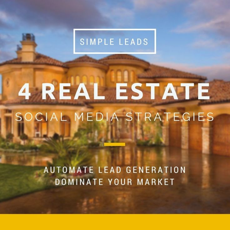 4 Simple Real Estate Social Media Strategies and Sites That Don't Require You To Schedule Posts Yourself