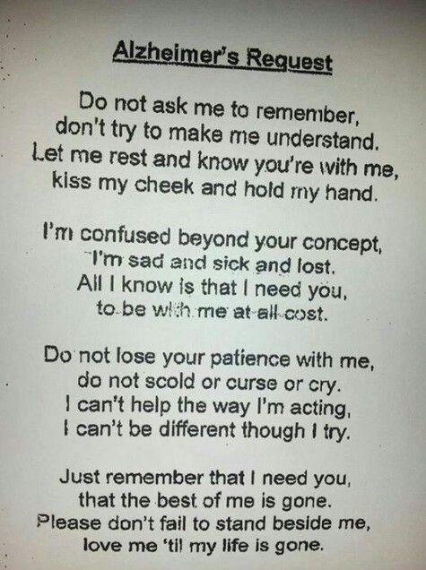 Alzheimers request