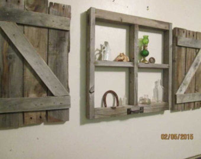 Etsy Your Place To Buy And Sell All Things Handmade Rustic Shutters Window Frame Barn Wood