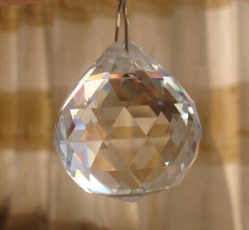 50 шт./лот кристалл стеклянный шар + 50 шт./лот металлический крюк для свадьбы и мяч люстра гирлянда strand бесплатная доставка