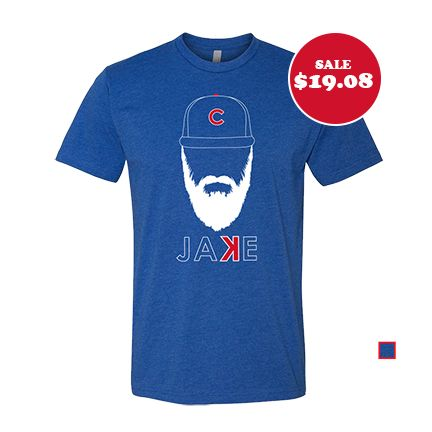 """Get your playoff beard going in this Jake Arrieta backwards """"K"""" - the softest, smoothest, best-looking Chicago Cubs t shirt available anywhere. Printed on Next Level Apparel - Vintage Royal, Tri-Blend"""
