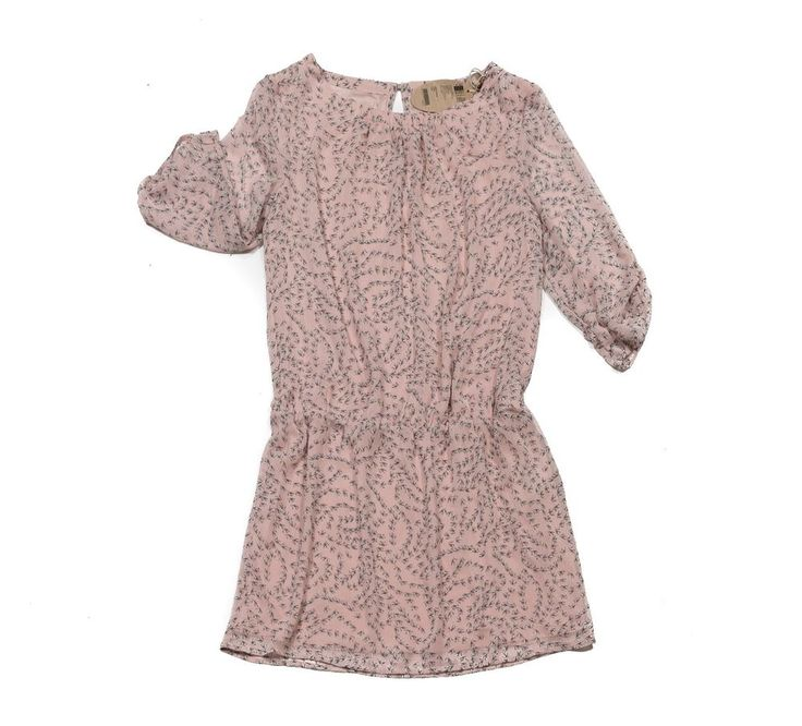 Kleid 👗 Damen Esprit Hell Rosa Blau 38 M muster mit Blumen Viskose dress Neu!