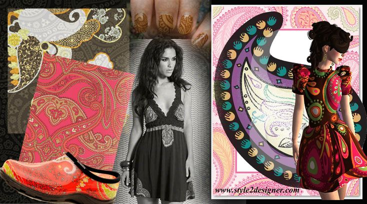 Пейсли печати современный стиль моды - Style2Designer.com