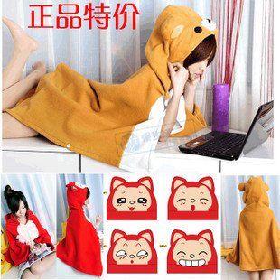 >> Click to Buy << Candice guo! Hot sale new style shawl two purpose Rilakkuma fox ali funny expressions plush hoodies cloak birthday gift 1pc #Affiliate