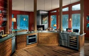 A kitchen with absolutely no high reaches: Decoration Idea, Cabin Idea, Kitchens Appliances, Homes Univ Design, Timber Homes, Refrigerators Drawers, Gorgeous Kitchens, Universe Design, Kitchens Idea