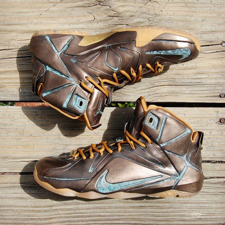 2b986cab00a ... denmark nike lebron 12 ext lebronze custom by gourmetkickz sneaker  pinterest nike aae71 2cac1