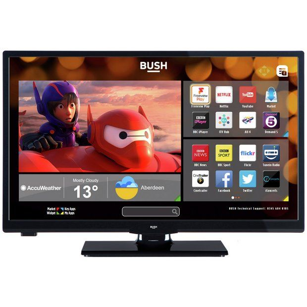 Buy Bush 24 Inch HD Ready Smart TV With DVD Player - Black at Argos.co.uk - Your Online Shop for Televisions, Televisions and accessories, Technology.