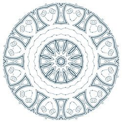 Snowflake Coloring Page 10
