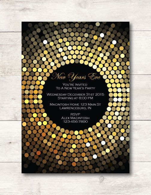 New Years Eve Invitation by LenoraMaeDesigns on Etsy