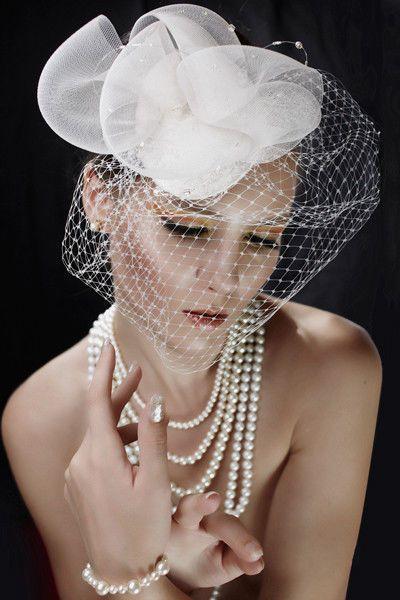 Купить или заказать Шляпка с вуалью в интернет-магазине на Ярмарке Мастеров. шляпка-вуалетка…