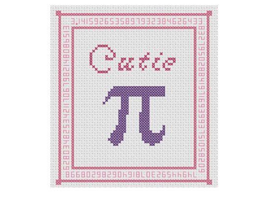 "PATTERN ""Cutie Pi"" Cross Stitch Chart"
