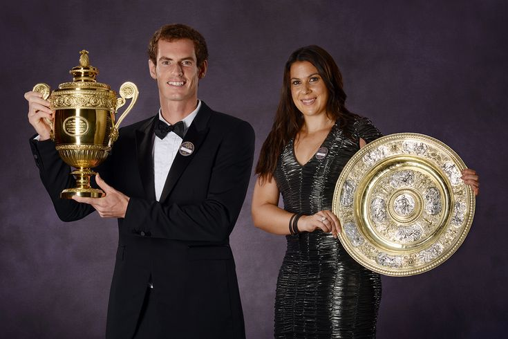The 2013 Champions Andy Murray and Marion Bartoli