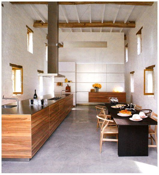 LOVE this kitchen!!!! Timber, floors, walls... Kitchen Inspiration | The Design Files
