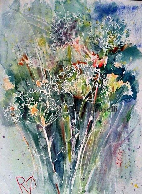Rita Vaselli watercolors: WILD GRASS/ ERBE SELVATICHE