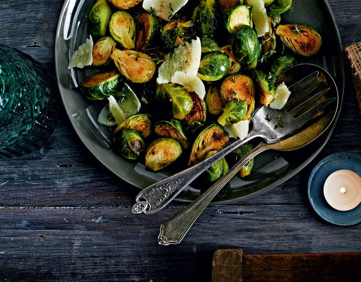 Saut?ed Herb and Butter Brussels Sprouts With Shaved Parmesan