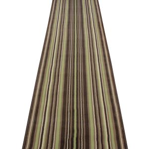 strike green stripe hallway carpet runner