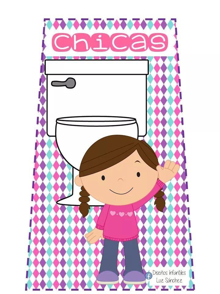 Idea De Karina Cordova En Letreros Banos Actividades Escolares