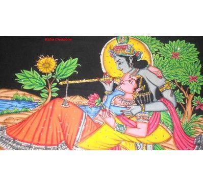 #Radha #Krishan #Handmade Sparkle Painting http://kalracreations.com/home-furnishing/handmade-paintings/radha-krishan-handmade-sparkle-painting.html