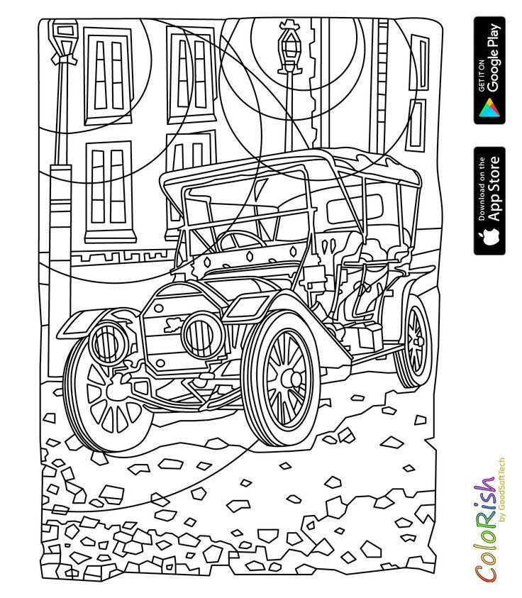 Pin van Barbara op coloring means of transport