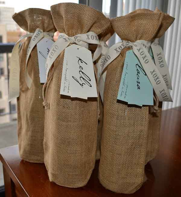 Kristen created a wine gift for each friend who planned her bachelorette party getaway and wine tasting